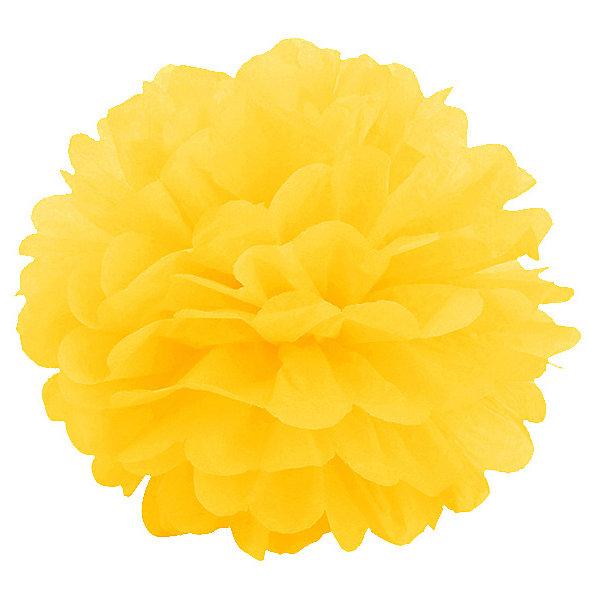 цены Патибум Помпон бумажный Патибум 40 см, ярко-жёлтый