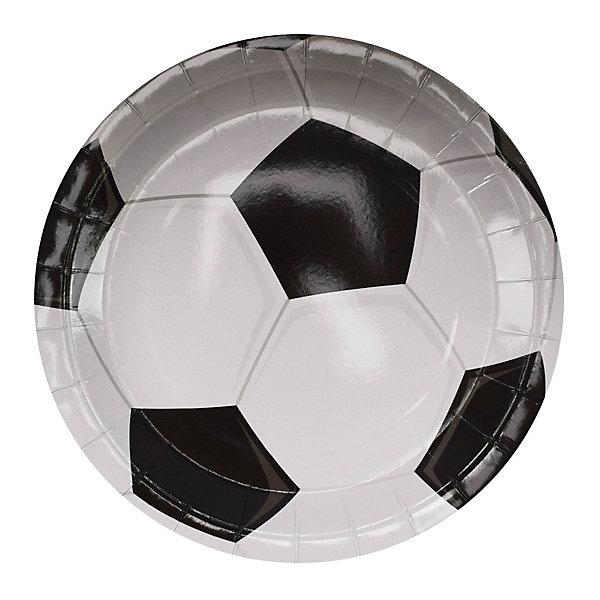 Патибум Тарелки Патибум Футбол 6 шт., 23 см патибум набор для фотосессии патибум мексиканская вечеринка 11 шт