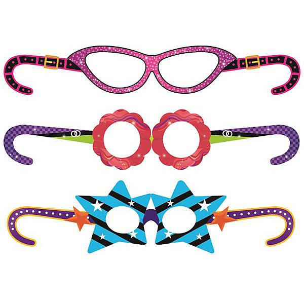 Купить Набор масок Патибум Party Girls бумага, 6 шт, Китай, разноцветный, Женский