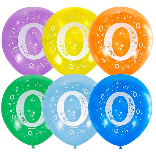 Latex Occidental Воздушные шары Latex Occidental Цифра Ноль 10 шт, пастель + декоратор товары для праздника поиск воздушные шары микс средних фигур 100 шт