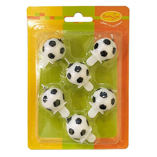 Патибум Свечи Патибум Футбольный мяч 6 шт, 2,5 см патибум набор для фотосессии патибум мексиканская вечеринка 11 шт