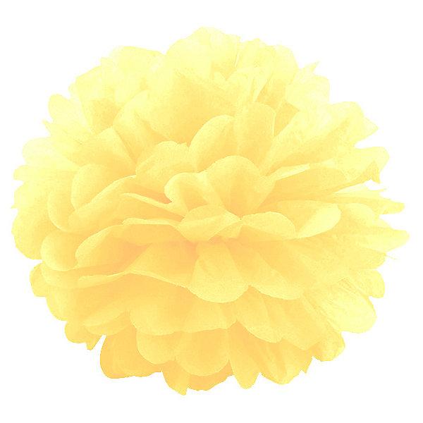 Купить Помпон бумажный Патибум 40 см, жёлтый, Китай, разноцветный, Унисекс