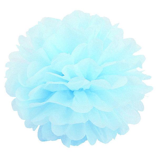 Патибум Помпон бумажный Патибум 40 см, небесно-голубой ecsem небесно голубой