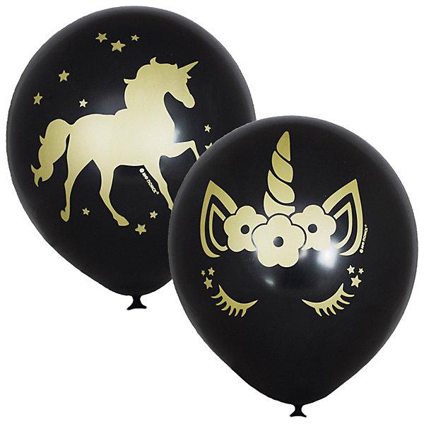 Latex Occidental Воздушные шары Единорог Black 25 шт, металлик