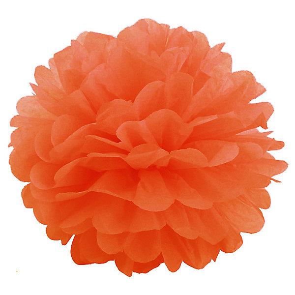 где купить Патибум Помпон бумажный Патибум 40 см, оранжевый по лучшей цене