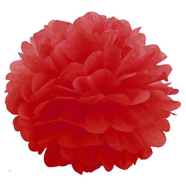 где купить Патибум Помпон бумажный Патибум 40 см, красный по лучшей цене