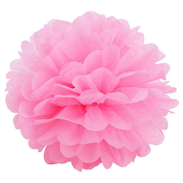 Патибум Помпон бумажный 40 см, розовый