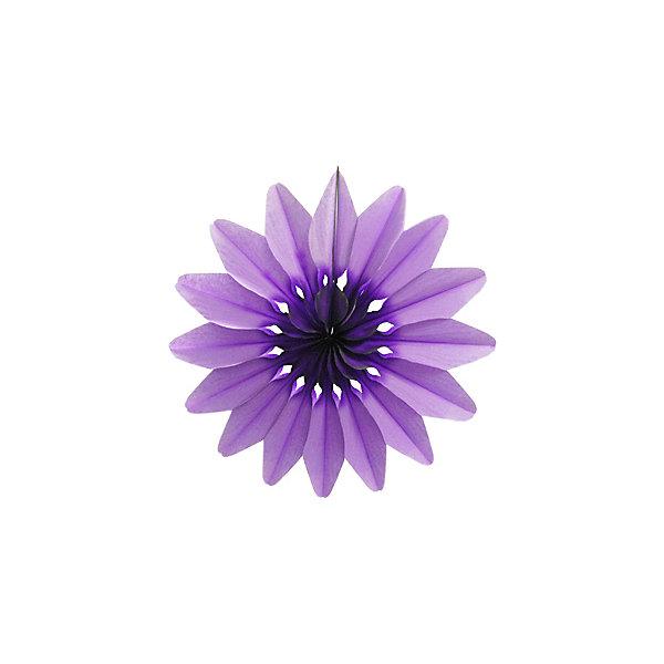Патибум Бумажное украшение Цветок 50 см, фиолетовый