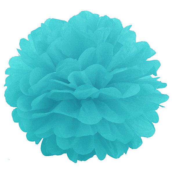 Купить Помпон бумажный Патибум 40 см, голубой, Китай, разноцветный, Унисекс