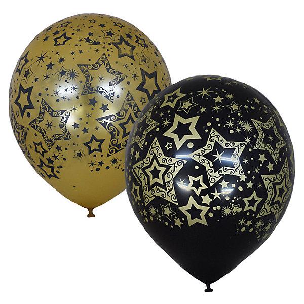 Latex Occidental Воздушные шары Голливуд Black&Gold, 25 шт