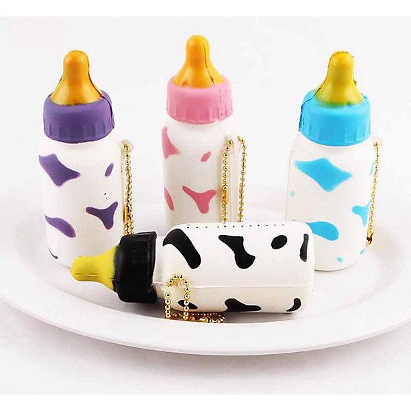 Junfa Toys Игрушка-антистресс Junfa Бутылочка молока, 10 см гитара деревянная junfa toys 60 см х 20 см х 6 см