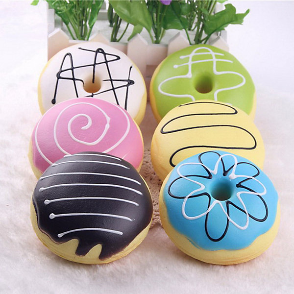 Купить Игрушка-антистресс Junfa Пончик, 9 см, Junfa Toys, Китай, разноцветный, Унисекс