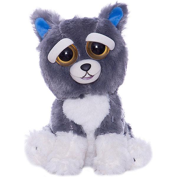 Feisty Pets Мягкая игрушка FeistyPets Собака, серая, 22 см цена