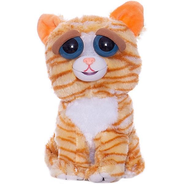 цены Feisty Pets Мягкая игрушка FeistyPets Кошка, рыжая, 22 см