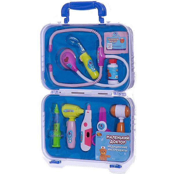 ABtoys Игровой набор  Маленький доктор,  чемодане, 8 предметов