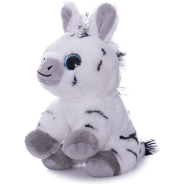 ABtoys Мягкая игрушка Abtoys Зебра, 14 см мягкая игрушка abtoys единорог с серебряными копытами ушками и рогом m096 белый 15 см