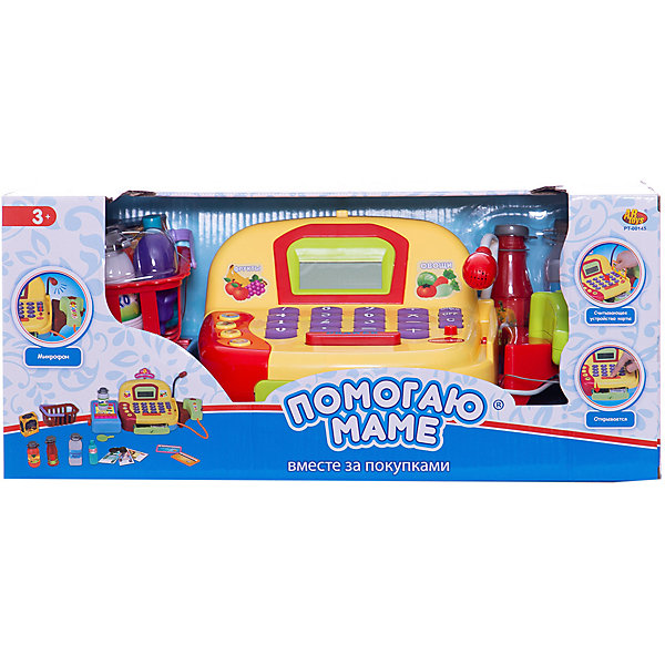 ABtoys Игровой набор Помогаю Маме Касса с продуктами, со звуком, 22 предмета