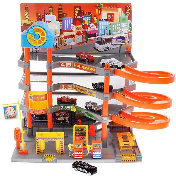 ABtoys Парковка ABtoys Веселое авто, 4-х уровневая + 6 машинок отопление и вентиляторы в авто cup fan for car 12v 4 apr1