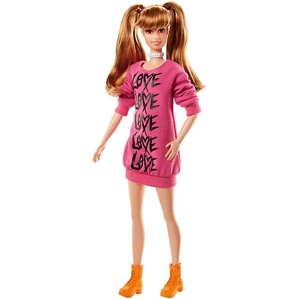 Mattel Кукла Barbie Игра с модой в вязаном розовом платье, 29 см