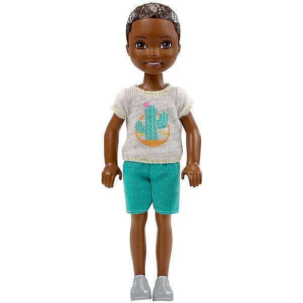 Mattel Мини-кукла Barbie Клуб Челси в майке с кактусом, 13,5 см