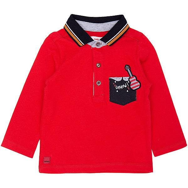 Catimini Футболка-поло с длинным рукавом Catimini для мальчика рубашка nines поло с длинным рукавом