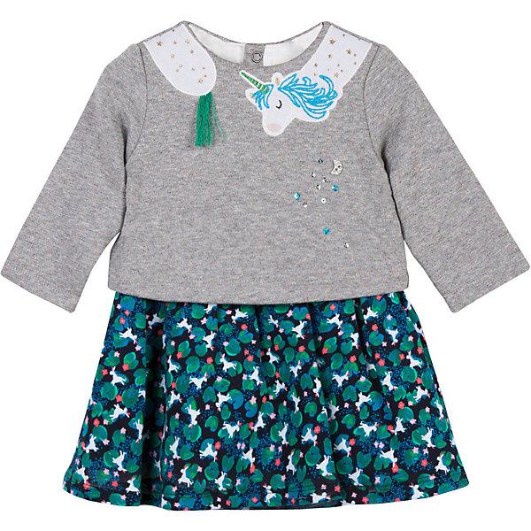 Catimini Платье Catimini для девочки vinooco vorneoco корейский тонкий хлопок leprosy шаль с длинным рукавом платье с двумя юбками юбка r1437 зеленый xxl