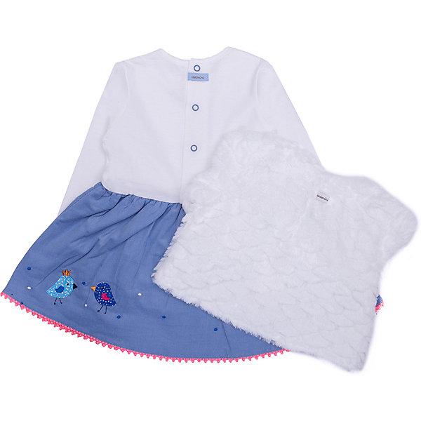Catimini Платье Catimini для девочки платье для девочки маленький принц платье для девочки белое с синими полосками