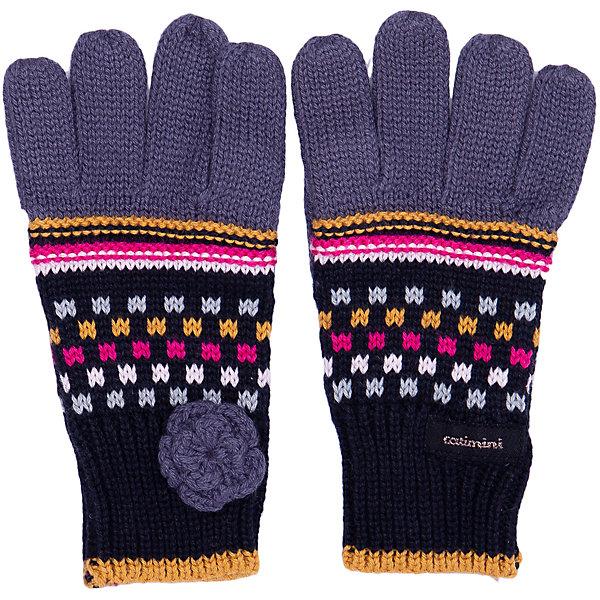 Catimini Перчатки Catimini для девочки перчатки без пальцев шерстяные с рисунком розовые