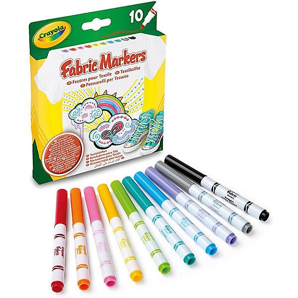 Crayola Фломастеры Crayola для росписи ткани, 10 шт. crayola фломастеры штампики 8 шт shopkins crayola