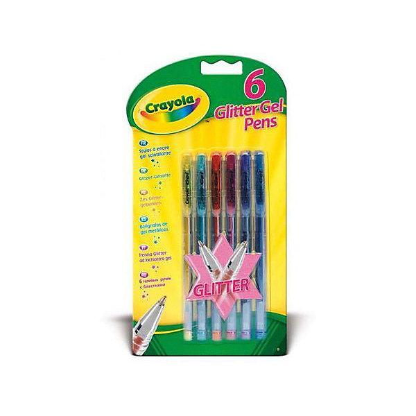 Crayola Набор гелевых ручек Блеск, 6 шт. hao yue style набор гелевых ручек 4 цвета