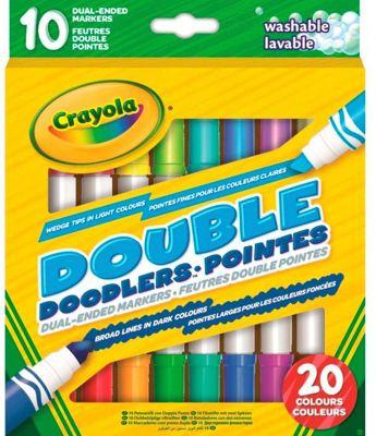 Двусторонние смываемые фломастеры Crayola, 10 шт., артикул:9556256 - Письменные принадлежности
