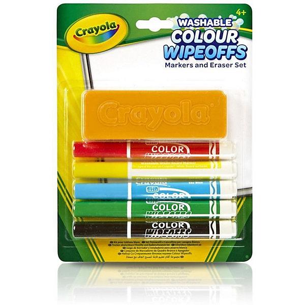 Фото - Crayola Набор стираемых фломастеров Crayola, с губкой crayola набор для лепки из теста crayola мини 1
