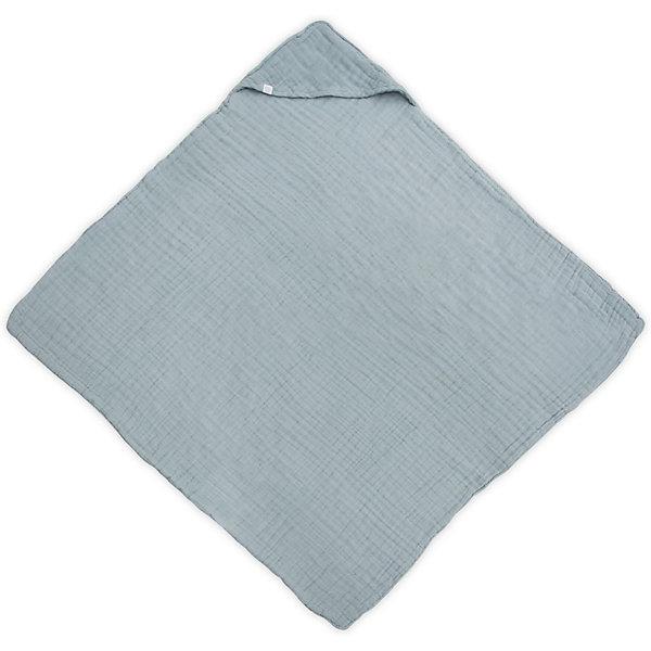 jollein Муслиновое полотенце с капюшоном Jollein, 100х100 см (Серо-зеленый)