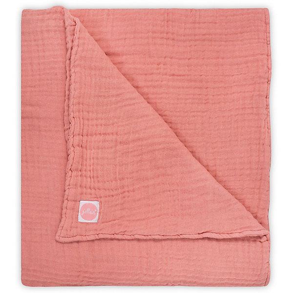 jollein Муслиновое одеяло Jollein, 120х120 см (Коралловый) шапочки и чепчики jollein вязаная шапочка soft knit