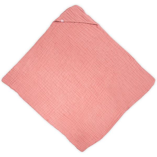 jollein Муслиновое полотенце с капюшоном Jollein, 100х100 см (Коралловый) постельное белье jollein wild animals 140х200 см