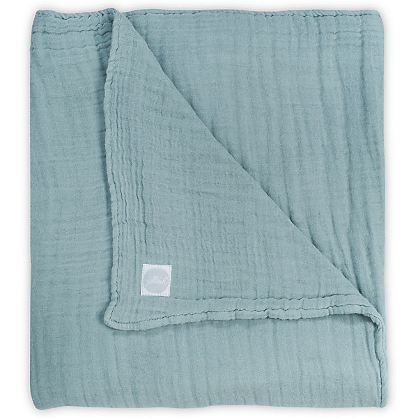 jollein Муслиновое одеяло Jollein, 75х100 см (Серо-зеленый) adam stork муслиновое одеяло sweet dream 120 х 120 см
