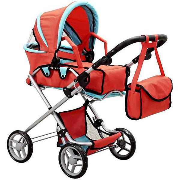 Buggy Boom Коляска для кукол Buggy Boom, красно-бирюзовая коляски для кукол bertoni lorelli mimi
