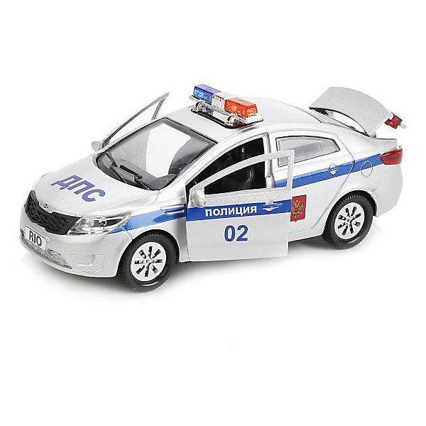 Фото - ТЕХНОПАРК Машинка Технопарк Kia rio Полиция, 12 см технопарк машинка технопарк урал 5557 полиция 12 см