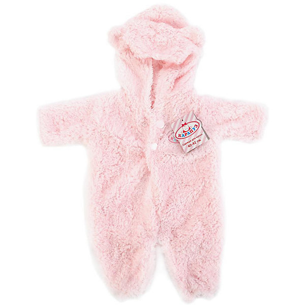 КАРАПУЗ Одежда для куклы Карапуз Зимний кобинезон 40-42 см, розовый куклы карапуз кукла карапуз принцесса рапунцель 25 см