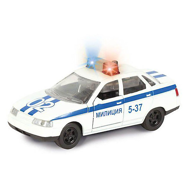 ТЕХНОПАРК Коллекционная машинка Технопарк Лада 2110 Полиция, 1:43 машинка технопарк уаз патриот полиция 1 50
