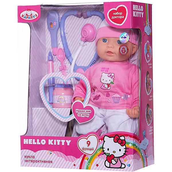 КАРАПУЗ Кукла-пупс Карапуз Hello Kittyс набором доктора, 40 см, 9 функций куклы карапуз кукла карапуз принцесса рапунцель 25 см