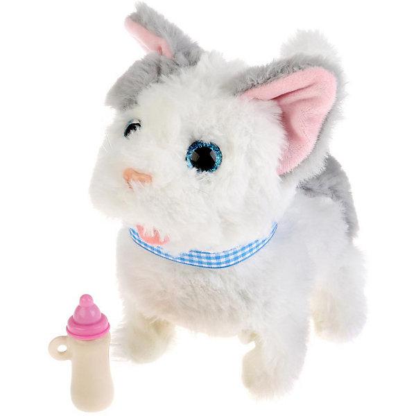 Купить Интерактивная игрушка My Friends Котенок Джесси с бутылочкой, 7 функций, Китай, разноцветный, Унисекс