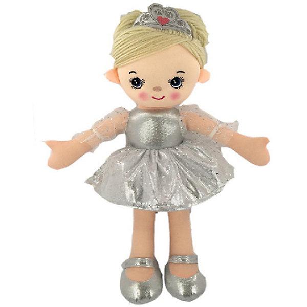Купить Мягкая кукла ABtoys Балерина в серебристом платье, 30 см, Китай, серебряный, Женский