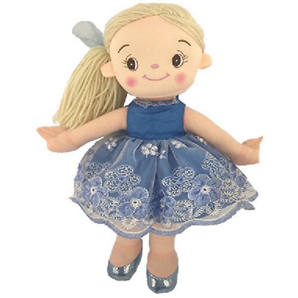 Мягкая кукла ABtoys Балерина в голубом платье, 30 см
