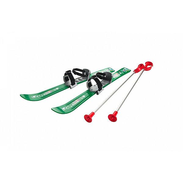 Купить Лыжи с палками и креплениями Gismo Riders Baby Ski 70 см, зелёные, Чехия, зеленый, Унисекс