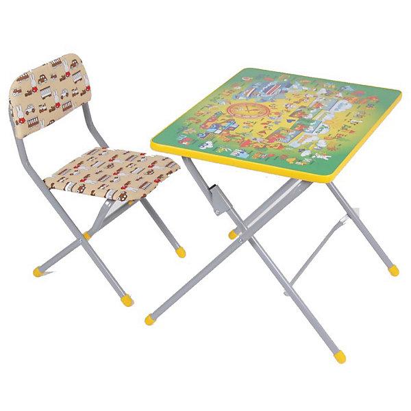 ФЕЯ Комплект детской мебели Фея Досуг 201 Алфавит зеленый цена в Москве и Питере