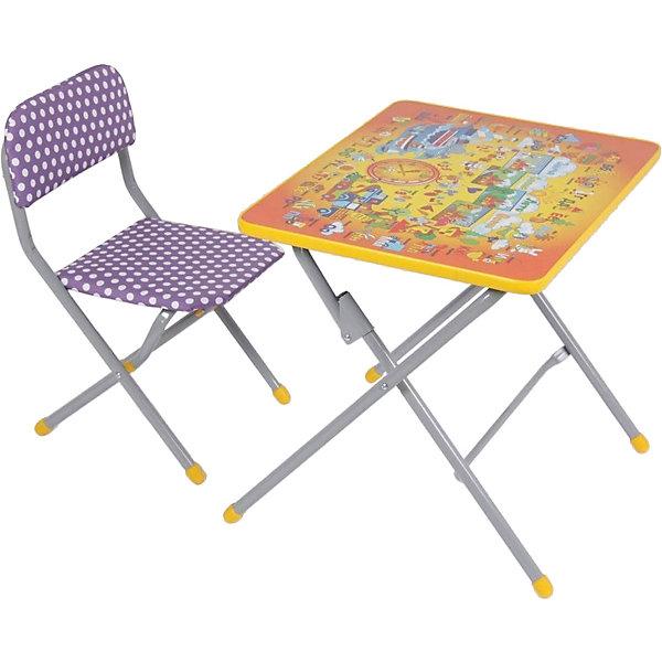 ФЕЯ Комплект детской мебели Фея Досуг 201 Алфавит оранжевый цена в Москве и Питере
