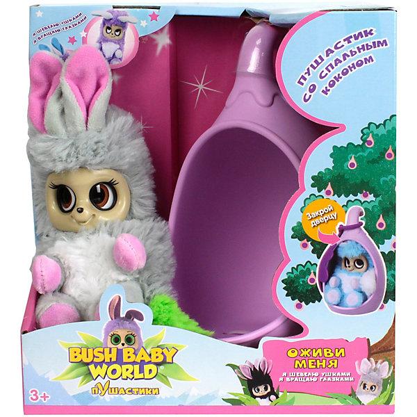 Купить Интерактивная мягкая игрушка 1Toy Bush baby world Пушистики со спальным коконом, Нениа, 17 см, Китай, разноцветный, Унисекс