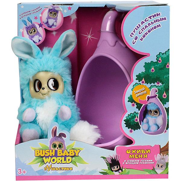 Купить Интерактивная мягкая игрушка 1Toy Bush baby world Пушистики со спальным коконом, Адеро, 17 см, Китай, разноцветный, Унисекс