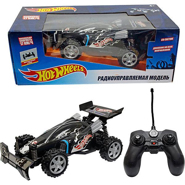 1Toy Радиоуправляемый багги 1Toy Hot Wheels 1:20, чёрный машинки и мотоциклы 1toy машинка р у 1тoy hot wheels н68 со светом чёрная